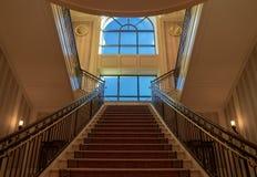 Escaleras a una ventana grande, palacio de Ceasars, Las Vegas, Nevada, los E.E.U.U., octubre de 2018 fotos de archivo