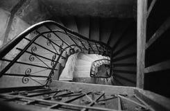 Escaleras viejas fotografía de archivo