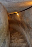 Escaleras viejas de la bobina en Pisa, Italia Foto de archivo