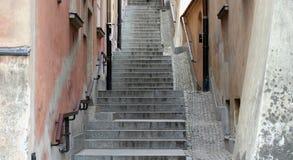 Escaleras viejas de la ciudad imagen de archivo libre de regalías