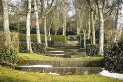 Escaleras viejas de la piedra Foto de archivo