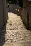 Escaleras viejas del castillo Imagenes de archivo