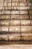 Escaleras viejas del cemento foto de archivo libre de regalías