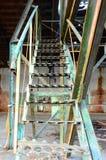 Escaleras viejas del hierro Fotografía de archivo