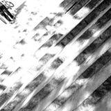 Escaleras y mirada artística del ciclista en blanco y negro Foto de archivo