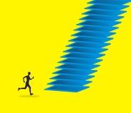 Escaleras y ser humano libre illustration