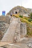 Escaleras y túnel del mausoleo de Njegos Fotos de archivo