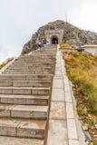 Escaleras y túnel del mausoleo de Njegos Imagen de archivo