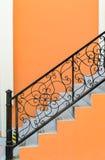 Escaleras y verja Imagenes de archivo