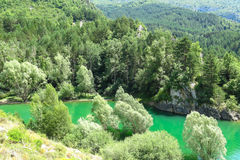 Escales lagoon, in the Catalan Pyrenees, Spain Stock Images