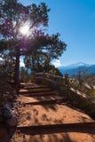 Escalier à la montagne Images libres de droits