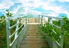Escalier à la nature Image stock