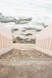 Escalier à la plage Photos libres de droits