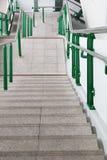 Escalier à la station de train de ciel de Bangkok Photos stock