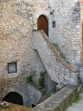Escalier à la trappe Photos stock