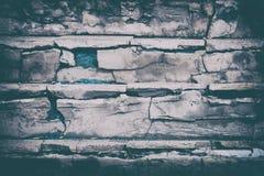 Escalier âgé avec le fond criqué détruit de vintage d'étapes Image libre de droits