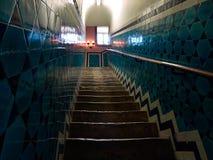 Escalier antique carrelé photographie stock