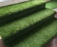 Escalier artificiel vert d'herbe photo libre de droits