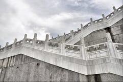 Escalier ascendant dans le musée de palais Photographie stock libre de droits