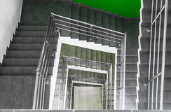 Escalier au centre d'affaires Photo stock
