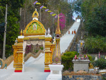Escalier au ciel Wat Doi Saket Thailand Photos libres de droits
