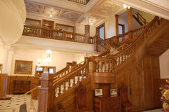 Escalier au sol dans le château de Boldt Photo stock