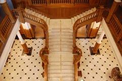 Escalier au sol dans le château de Boldt Photographie stock