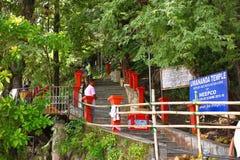 Escalier au temple d'île d'Umananda, Guwahati, Assam Image stock
