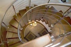 Escalier avec deux lampes Photographie stock libre de droits