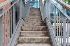 Escalier avec la brique Photographie stock libre de droits