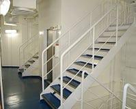 Escalier blanc Photographie stock libre de droits