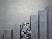 Escalier cassé illustration de vecteur