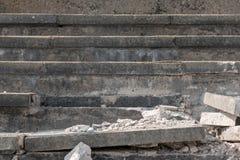 Escalier cassé de roche Photos libres de droits