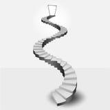 Escalier circulaire menant à la porte de ciel Image stock