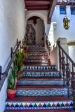 Escalier coloré en Carmel-par-le-mer Images stock