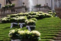 Escalier décoré de cathédrale Image stock