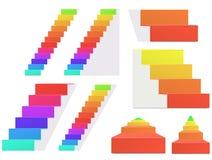 Escalier d'arc-en-ciel Photographie stock libre de droits