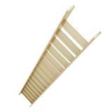 Escalier d'or d'échelle d'étape d'isolement sur le blanc Image stock