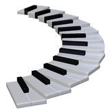 Escalier 3d de piano illustration de vecteur