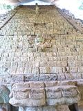 Escalier d'hiéroglyphes photo stock