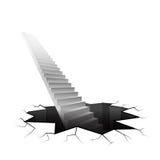 Escalier d'infini se levant de la terre criquée Photographie stock