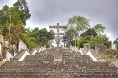 Escalier d'un temple chrétien - Portugal Photographie stock