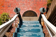 Escalier d'une vieille maison Photographie stock