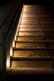 Escalier dans l'obscurité Photos libres de droits