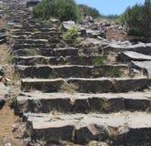 Escalier dans la montagne Photo stock