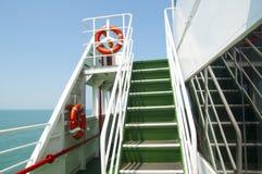 Escalier dans le bateau Photographie stock libre de droits