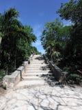 Escalier dans le complexe maya archéologique de Tulum Photographie stock