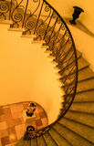 Escalier dans le palais de Repos de lundi, Corfou Photos stock
