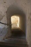 Escalier dans un village en Autriche Image stock