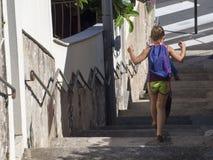 Escalier de园地Quadro,滨海自由城,法国 免版税库存照片
